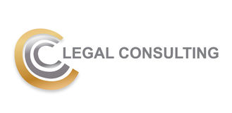 Διάνυσμα - σύγχρονο λογότυπο διαβούλευσης πνευματικών δικαιωμάτων νομικό, που απομονώνεται στο άσπρο υπόβαθρο επίσης corel σύρετε Στοκ εικόνα με δικαίωμα ελεύθερης χρήσης