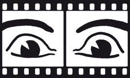 διάνυσμα ταινιών ματιών Στοκ εικόνα με δικαίωμα ελεύθερης χρήσης