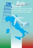 Διάνυσμα - ταξίδι της Ιταλίας στο υπόβαθρο τέχνης έννοιας Στοκ φωτογραφίες με δικαίωμα ελεύθερης χρήσης