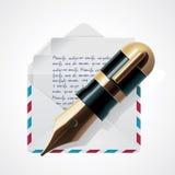 διάνυσμα ταχυδρομείου εικονιδίων ελεύθερη απεικόνιση δικαιώματος