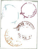 διάνυσμα ταχυδρομικών τελών στοιχείων σχεδίου Στοκ Εικόνα