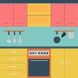Διάνυσμα της κουζίνας Στοκ φωτογραφία με δικαίωμα ελεύθερης χρήσης