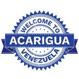 Διάνυσμα της ΥΠΟΔΟΧΗΣ στη χώρα ΒΕΝΕΖΟΥΈΛΑ πόλεων ACARIGUA γραμματόσημο sticker Ύφος Grunge EPS8 Στοκ Εικόνες