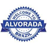 Διάνυσμα της ΥΠΟΔΟΧΗΣ στη χώρα ΒΡΑΖΙΛΊΑ πόλεων ALVORADA γραμματόσημο sticker Ύφος Grunge EPS8 Στοκ Εικόνες