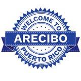 Διάνυσμα της ΥΠΟΔΟΧΗΣ στη χώρα ΠΟΥΈΡΤΟ ΡΊΚΟ πόλεων ARECIBO γραμματόσημο sticker Ύφος Grunge EPS8 Στοκ Φωτογραφίες