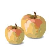 Διάνυσμα της Apple Watercolor που απομονώνεται Στοκ Φωτογραφία