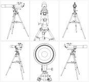 Διάνυσμα 03 τηλεσκοπίων Στοκ Εικόνες
