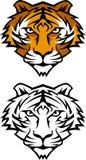 διάνυσμα τιγρών μασκότ λο&gamma στοκ εικόνες