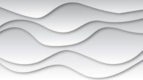 Διάνυσμα του γκρίζου υποβάθρου κυμάτων με τη μαύρη σκιά διανυσματική απεικόνιση