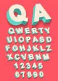 Διάνυσμα του εκλεκτής ποιότητας αλφάβητου τύπων με την τρισδιάστατη επίδραση threedimentional Στοκ εικόνα με δικαίωμα ελεύθερης χρήσης