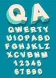 Διάνυσμα του εκλεκτής ποιότητας αλφάβητου τύπων με την τρισδιάστατη επίδραση threedimentional απεικόνιση αποθεμάτων