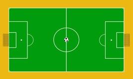 Διάνυσμα του δικαστηρίου ποδοσφαίρου Στοκ φωτογραφία με δικαίωμα ελεύθερης χρήσης