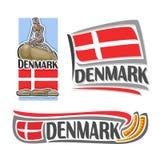 Διάνυσμα του λογότυπου για τη Δανία ελεύθερη απεικόνιση δικαιώματος