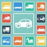 Διάνυσμα του συνόλου εικονιδίων αυτοκινήτων Στοκ Φωτογραφίες