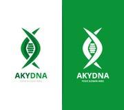 Διάνυσμα του DNA και του γενετικού συνδυασμού λογότυπων Επιστήμη και σύμβολο ή εικονίδιο ελίκων Μοναδικές σπείρα και εξέλιξη logo Στοκ εικόνες με δικαίωμα ελεύθερης χρήσης