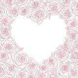 διάνυσμα τριαντάφυλλων καρδιών Στοκ φωτογραφία με δικαίωμα ελεύθερης χρήσης