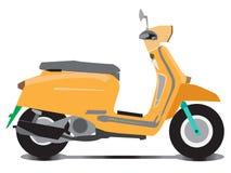 Διάνυσμα των αυτόματων ή χειρωνακτικών μοτοσικλετών μηχανικών δίκυκλων διανυσματική απεικόνιση