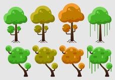Διάνυσμα των δέντρων με πολλά χρώματα στοκ φωτογραφίες