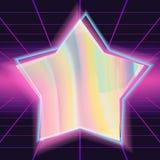 διάνυσμα υποβάθρου της δεκαετίας του '80 Διαφορετικό ολόγραμμα χρωμάτων Στιλπνή πρόσκληση δυσλειτουργίας απεικόνιση ελεύθερη απεικόνιση δικαιώματος