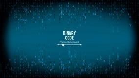 Διάνυσμα υποβάθρου δυαδικού κώδικα Δυαδικό αλγορίθμου, κώδικας στοιχείων, αποκρυπτογράφηση και κωδικοποίηση, μήτρα σειρών διανυσματική απεικόνιση