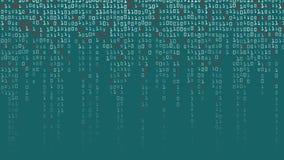 Διάνυσμα υποβάθρου δυαδικού κώδικα Υπόβαθρο μητρών υψηλής τεχνολογίας με τα ψηφία απεικόνιση αποθεμάτων