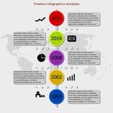 Διάνυσμα υπόδειξης ως προς το χρόνο Infographic Στοκ Φωτογραφίες