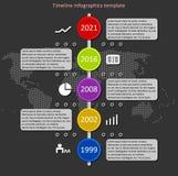 Διάνυσμα υπόδειξης ως προς το χρόνο Infographic Στοκ φωτογραφία με δικαίωμα ελεύθερης χρήσης