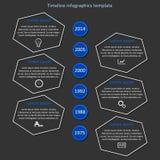 Διάνυσμα υπόδειξης ως προς το χρόνο Infographic Στοκ Εικόνα