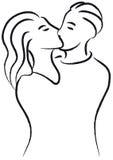 διάνυσμα φιλιών διανυσματική απεικόνιση