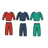 Διάνυσμα φορμών γυμναστικής Ικανότητα εικονιδίων φορμών γυμναστικής Διάνυσμα αθλητικών κοστουμιών ατόμων Στοκ Εικόνα