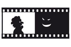διάνυσμα φόβου filmstrip Στοκ Εικόνες
