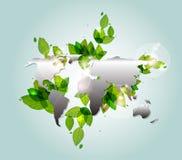 διάνυσμα φύσης γήινων χαρτών ανασκόπησης Στοκ Εικόνες