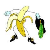 Διάνυσμα χαρακτήρα μπανανών ανθρώπων και κινούμενων σχεδίων Στοκ φωτογραφίες με δικαίωμα ελεύθερης χρήσης