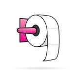 Διάνυσμα χαρτιού τουαλέτας σε ζωηρόχρωμο ελεύθερη απεικόνιση δικαιώματος
