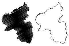Διάνυσμα χαρτών Ρηνανία-Παλατινάτο Στοκ Φωτογραφία
