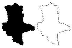 Διάνυσμα χαρτών Σαξωνία-Anhalt Στοκ φωτογραφίες με δικαίωμα ελεύθερης χρήσης