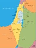 διάνυσμα χαρτών του Ισραή&lambd Στοκ Εικόνες