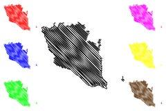 Διάνυσμα χαρτών Pahang απεικόνιση αποθεμάτων