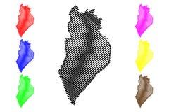 Διάνυσμα χαρτών Perlis ελεύθερη απεικόνιση δικαιώματος