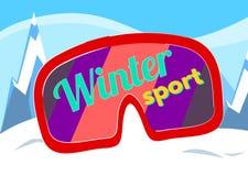 Διάνυσμα χειμερινού αθλητισμού Στοκ Φωτογραφίες