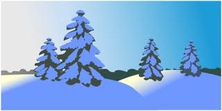 Διάνυσμα χειμερινού τοπίου διανυσματική απεικόνιση