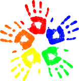 διάνυσμα χεριών χρώματος Στοκ εικόνες με δικαίωμα ελεύθερης χρήσης