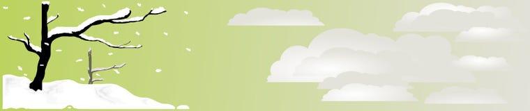 διάνυσμα χιονιού επικεφαλίδων zen Στοκ φωτογραφία με δικαίωμα ελεύθερης χρήσης