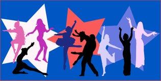 διάνυσμα χορευτών ανασκό&pi Στοκ φωτογραφία με δικαίωμα ελεύθερης χρήσης