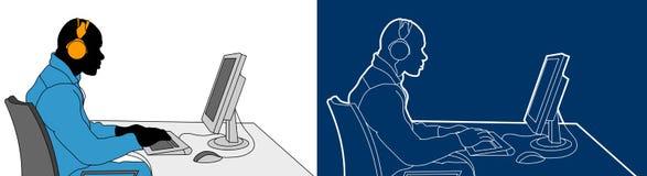 διάνυσμα χρηστών υπολογ&iota Στοκ φωτογραφίες με δικαίωμα ελεύθερης χρήσης