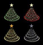 Διάνυσμα χριστουγεννιάτικων δέντρων διανυσματική απεικόνιση
