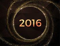 Διάνυσμα - χρυσή πυράκτωση καλής χρονιάς του 2016 Στοκ εικόνα με δικαίωμα ελεύθερης χρήσης