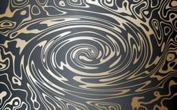 διάνυσμα Χρυσός σε ένα σκοτεινό υπόβαθρο Αφηρημένη εικόνα του μαρμάρου Ένα στροβιλιμένος ρεύμα του χρυσού μετάλλου απεικόνιση αποθεμάτων