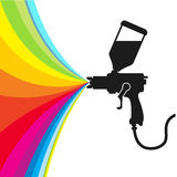 Διάνυσμα χρωμάτων ψεκασμού Στοκ Φωτογραφία