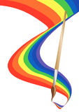 διάνυσμα χρώματος βουρτ&sigm Ελεύθερη απεικόνιση δικαιώματος